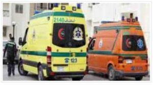 إصابة 7 أشخاص فى حادث انقلاب سيارة أجرة بطريق السويس- القاهرة