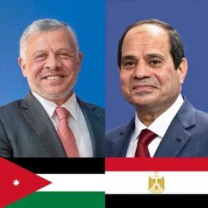 السيد الرئيس عبد الفتاح السيسي أجري اتصالاً هاتفياً مع الملك عبد الله الثاني بن الحسين ملك المملكة الأردنية الهاشمية الشقيقة