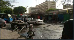 ماس كهربي يشعل النيران بسوق أحمد حلمي بشبرا