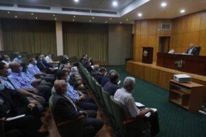 وزير النقل يعقد إجتماعاً موسعاً مع نظار المحطات الرئيسية