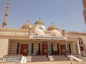 مسجد القنديل الاخضر تحفة فنية ببني سويف و المتبرع به بناه على حسابه الخاص