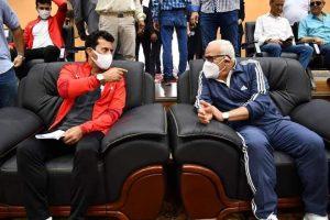 صبحي ومحافظ بورسعيد يشهدان فعاليات اللقاء المجمع للمشروع القومي لرياضة المرأة والرواد